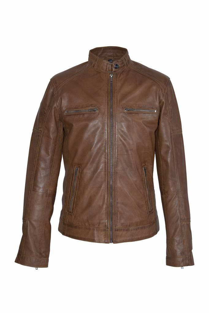 Heren Leren jas DL092 bruin