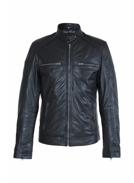 Carlo sachi Heren Leren jas DL092 zwart
