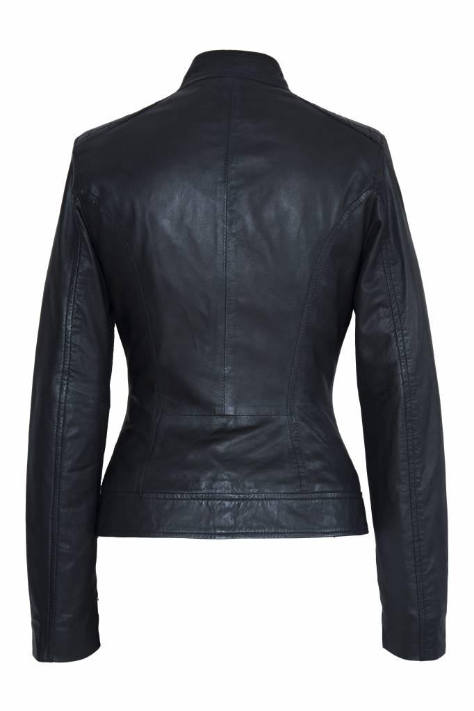 Carlo Sacchi Dames Leren jas Sonia zwart
