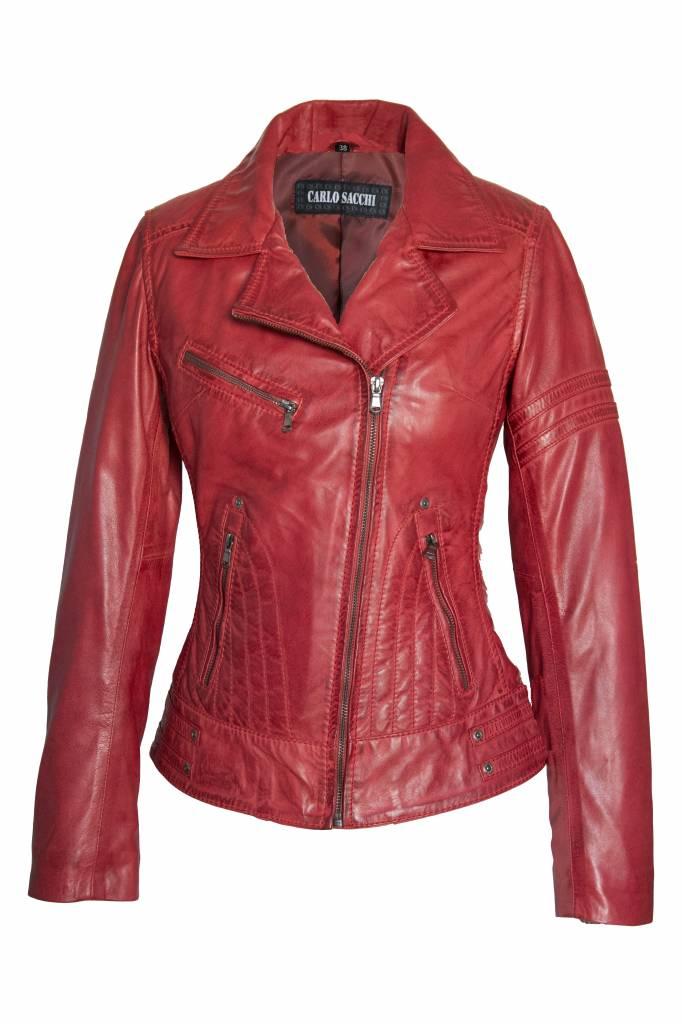 Dames Leren jas Jane 5 rood