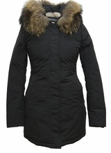 Dames winterjas met bontkraag CS V zwart