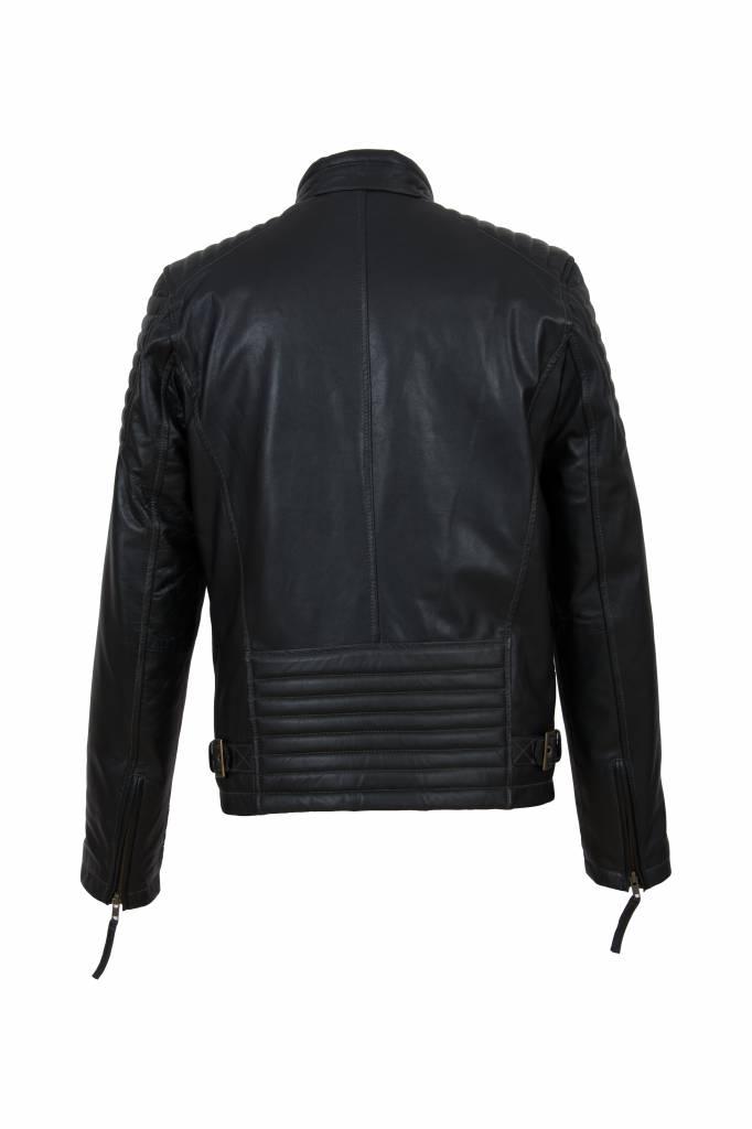 Heren leren jas 4051 zwart