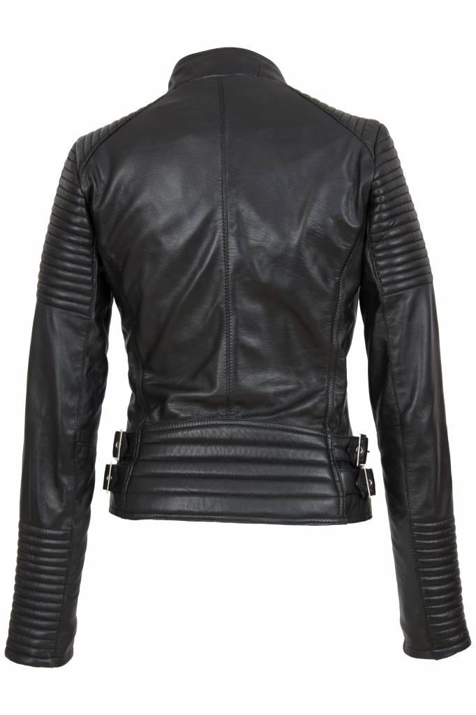 Dames leren jas 4060 zwart