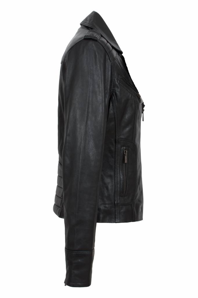 Carlo Sacchi dames leren jas T2 zwart