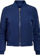 Dames bomber jacket donker blauw