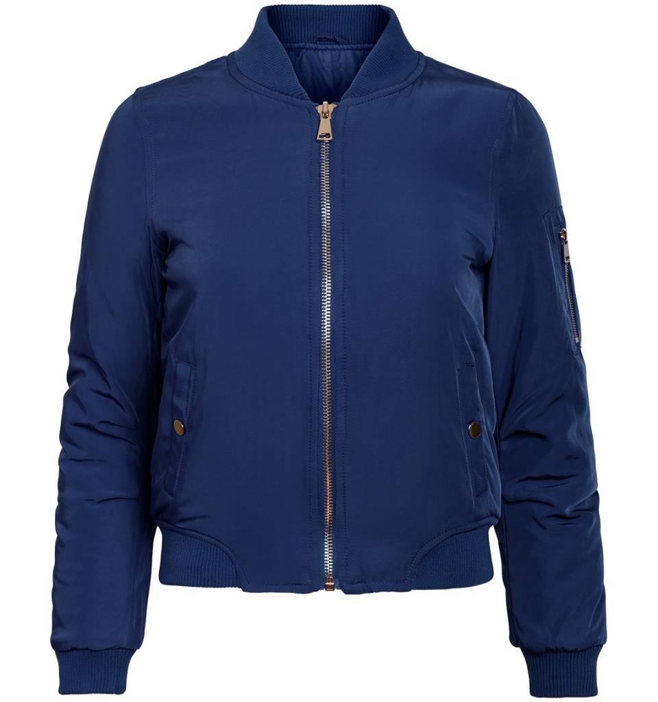 Attentif Dames bomber jacket donker blauw