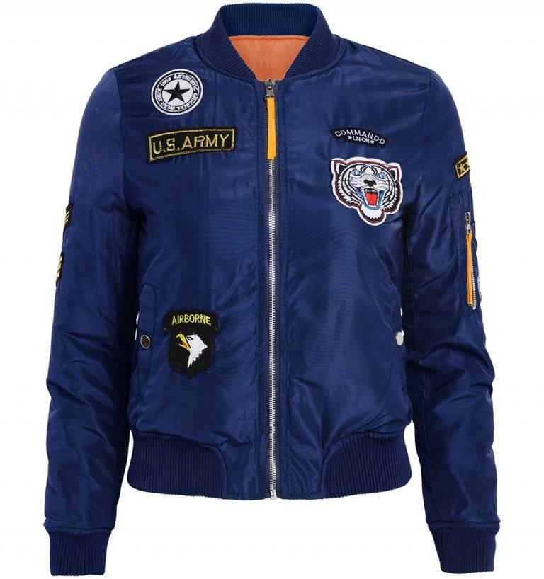 Attentif Bomber Jacket blauw 1