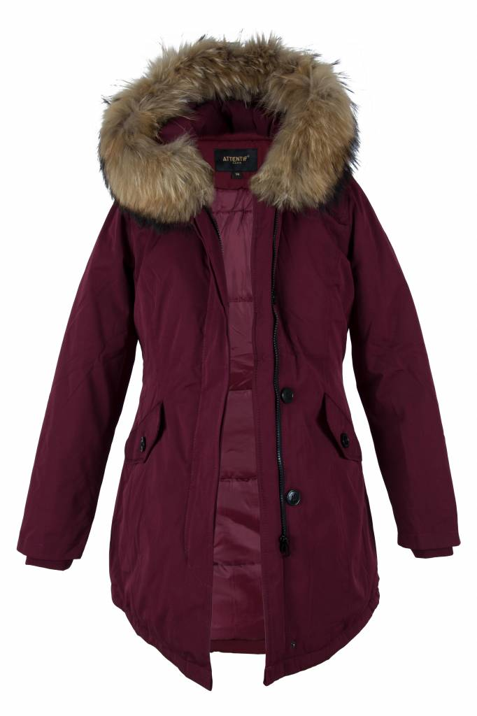 Attentif Dames winterjas  parka 2 bordoux