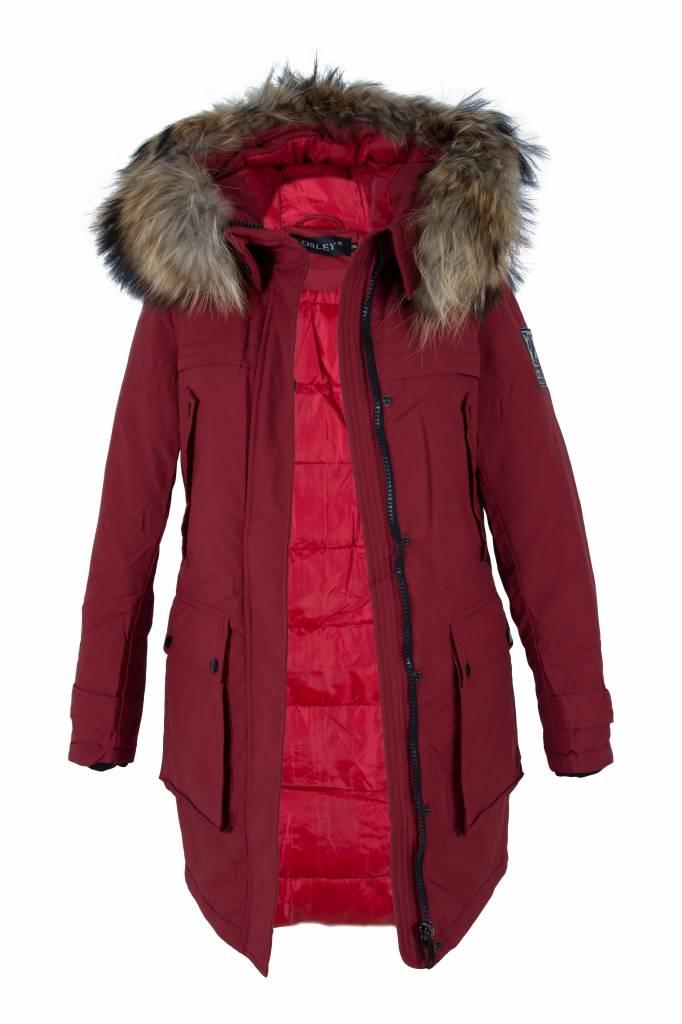 Attentif Dames winterjas  parka 3 rood