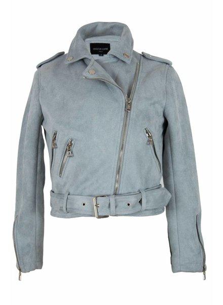 Dames swedine jas licht blauw