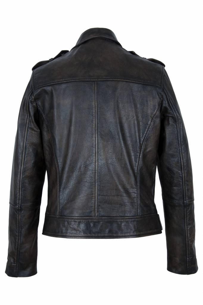 Carlo sachi Heren leren biker jas bruin
