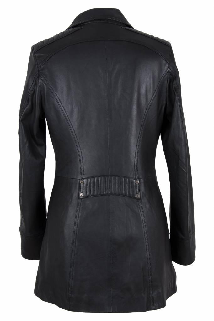 Carlo Sacchi Dames leren jas sofia zwart