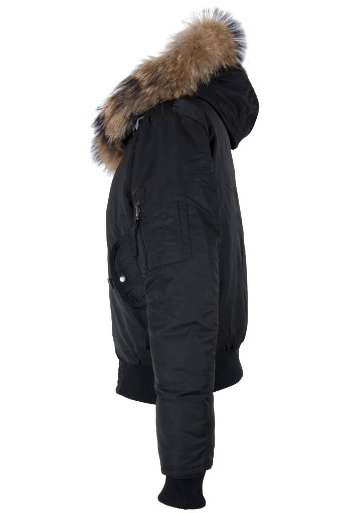 Macleria Dames winterjas zwart