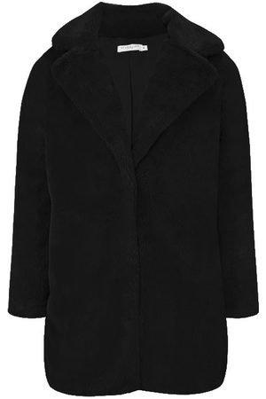 Dames bontjas zwart- Faux Fur