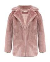Dames bontjas pink- Faux Fur