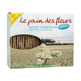 Le pain des fleurs Boekweit crackers, 2 x 75 gram - bio