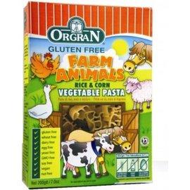 Orgran Vegetali animali da fattoria Pasta, riso e mais