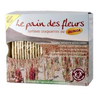Le pain des fleurs Quinoa crackers (bio), 2 x 75 gram