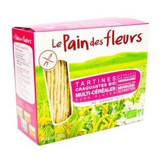 Le pain des fleurs craquelins multigrains, 2 x 75 g Bio