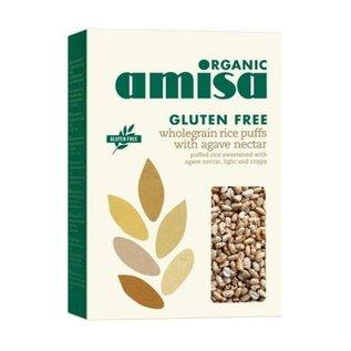 Amisa Puffed rice med økologisk agave