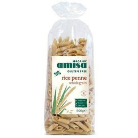 Amisa Brune ris pasta polyethylen pasta Økologisk 500g
