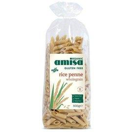 Amisa Volkoren rijst pasta penne pasta bio 500 gram