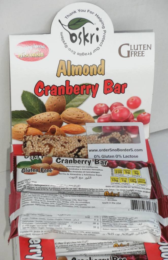 Cranberry Mandel bar
