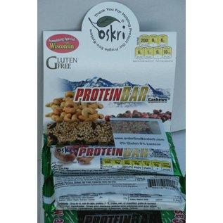 Oskri Protein bar cashew tranebær