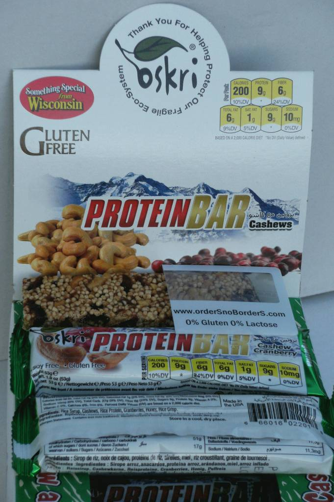 Protein-Riegel Cashew Cranberry