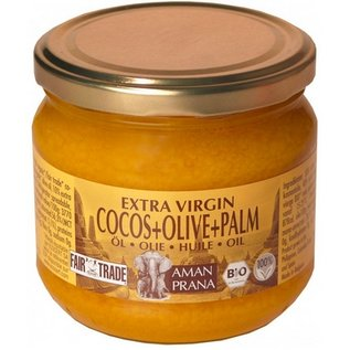 Aman Prana Coconut + Olive + rød palmeolie 325 ml