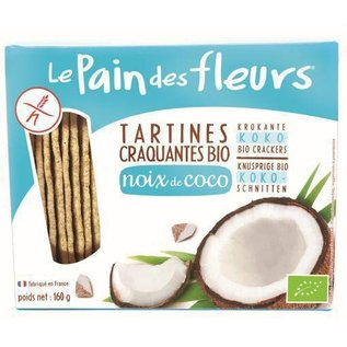 Le pain des fleurs Coconut Crackers, Bio 160g