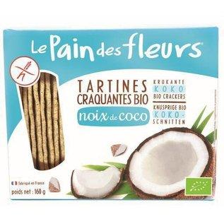 Le pain des fleurs Coconut Crackers, organic 160g