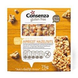 Consenza Noten reep abrikoos hazelnoot 3 x 25 gr
