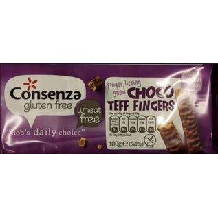 Consenza doigts Teff de chocolat - 5 x 2 pièces = 100g
