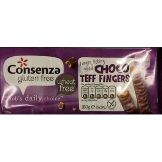 Consenza Teff chocolate fingers - 5 x 2 pieces = 100g