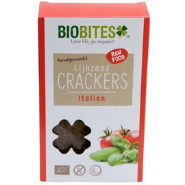BioBites Flaxseed Crackers Raw Italian 4 pieces