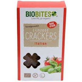 BioBites Hørfrø Crackers Raw italiensk 4 stykker