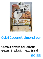 Coconut Almond bar Glutenfree of Oskri (USA)