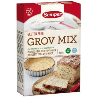 Semper High-fiber brød mix (grov) 500g