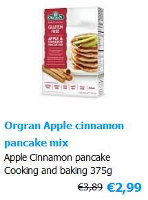 Pancake mix Glutenfree apple cinnamon Orgran