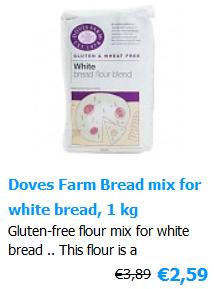 White bread mix Glutenfree 1000 g Doves Farm