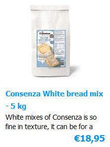 White bread mix Glutenfree 5 kg - Consenza