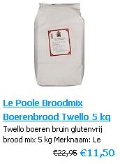 Boerenbrood mix Glutenvrij 5 kg - Le Poole