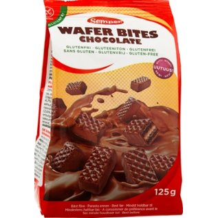 Semper Waffle Bites Chokolade - 125 g
