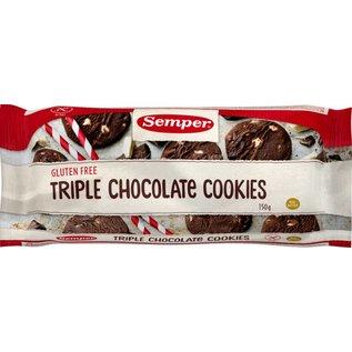 Semper Biscuits au chocolat Triple - 150g