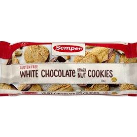 Semper Biscotti al cioccolato bianco noci del Brasile - 150 grammi