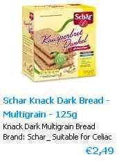 Crispbread Glutenfree multigrain dark 125 gram Dr. Schär