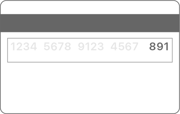 sicurezza ultime 3 cifre retro della carta carta di credito