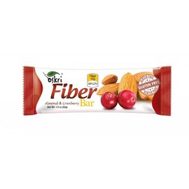20 x Cranberry mandel bar - fiber
