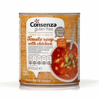 Consenza Soupe de tomates avec du poulet, 800 ml